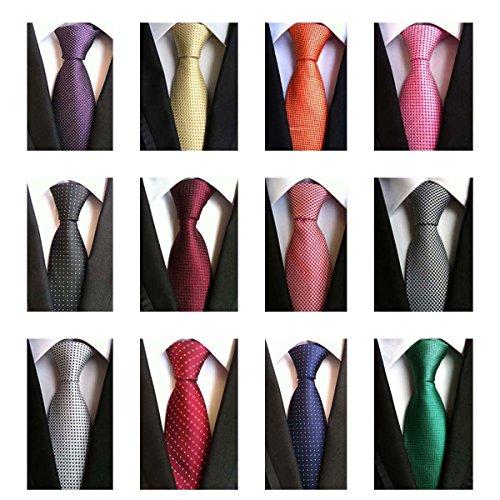 Weishang+Lot+12+PCS+Classic+Men%27s+100%25+Silk+Tie+Necktie+Woven+JACQUARD+Neck+Ties%28Style+7%29