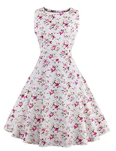 Pinkyee Trapze Blanc Robe Pinkyee Robe Femme qwf85n7x