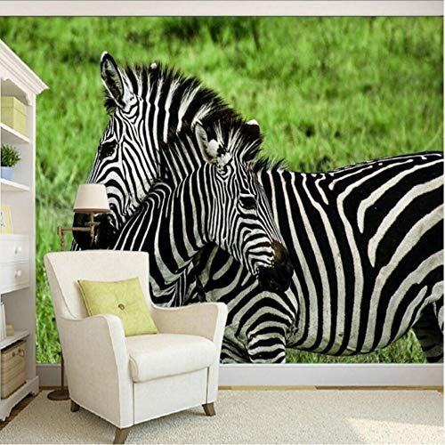 - xbwy Photo Wallpaper 3D Stereo Custom Nature Zebra Playful Fight Background Tv Backdrop Children Room Wallpaper Mural-120X100Cm