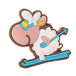 YJYDADA 4 pcs New Cartoon Fridge Magnet Refrigerator Freezer Wall Magnets Cute (A)