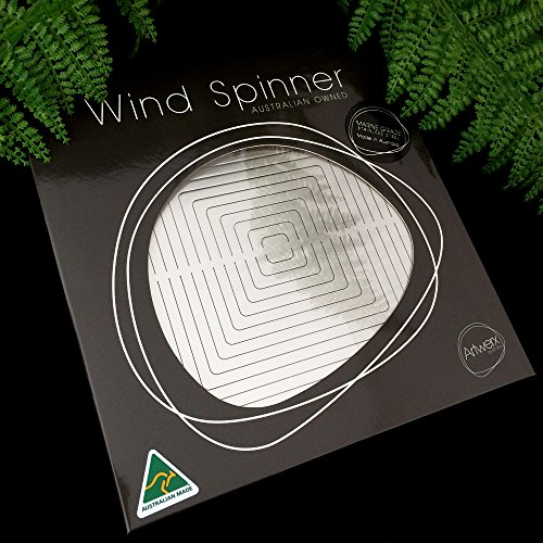 Stainless Steel Wind Spinner Circle, Premium, Indoor, Outdoor, Shimmering, Hanging - Marine Grade Stainless Steel. Ideal for Coastal Environments (8 Inch) Australian Made Wind Spinners. Circle