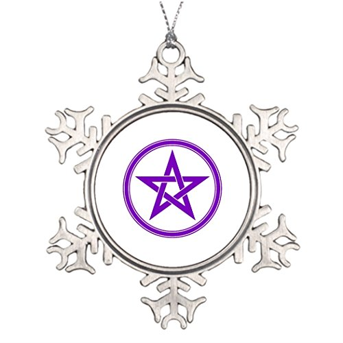 SS OPER Personalised Christmas Tree Decoration pentacle Unusual Snowflake Ornaments