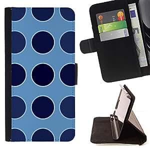 For Apple iPhone 5C Case , Punto Azul Uniforme Patrón- la tarjeta de Crédito Slots PU Funda de cuero Monedero caso cubierta de piel