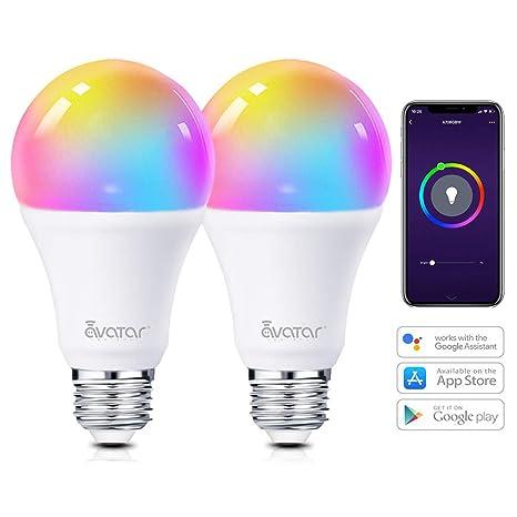 APP WiFi Smart 7W RGBW E27 LED Glühbirne Dimmbar Lampe für Alexa Google Home