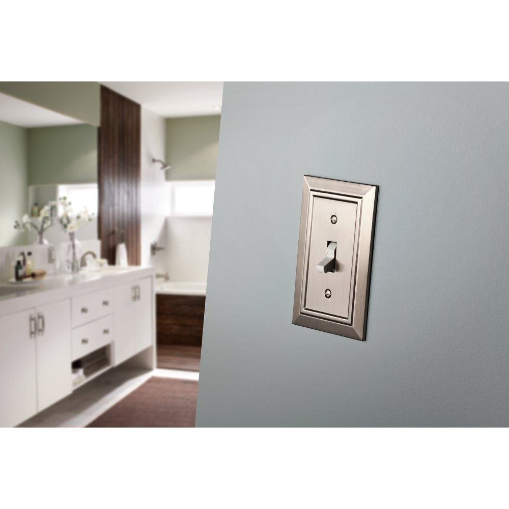 Franklin Brass W35225-SN-C Classic Architecture Triple Toggle Switch Wall Plate / Switch Plate / Cover, Satin Nickel by Franklin Brass (Image #2)