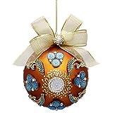 Mark Roberts Jewels and Glass Christmas Ornament 5 inch 36-72990 Royal Jewels Gold Aqua