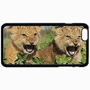 Personality customization Personalized Protective Hardshell Back Hardcover For iPhone 6, Angry Cubs Design In Black Case Color