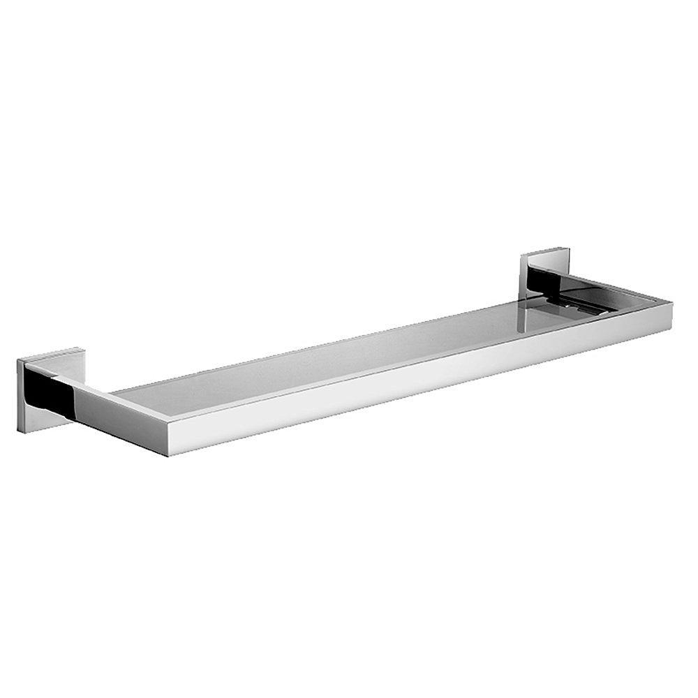WINCASE Wall Mounted Contemporary Bathroom Single Tier Glass Shelf Wall Mounted Chrome Finish Mirror Polished