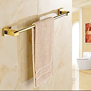 Iyuego Gold Plated Brass Bathroom Towel Rack Home Kitchen