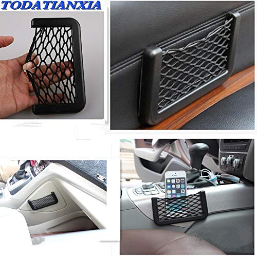 Borsa a Rete Elastica per Auto per Nissan Qashqai J10 Fiat Stilo BMW X5 E53 Mini Cooper Mercedes W203 Mazda 5 Accessori