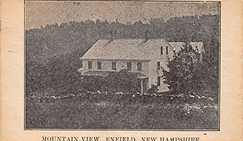 Old Vintage Shaker Post Card Mountain View Enfield, New Hampshire, NH, USA 1937