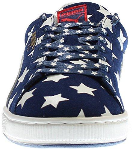 discount pick a best clearance manchester great sale Puma Suede RWB Men US 11.5 Blue Sneakers KuU2CwKaR