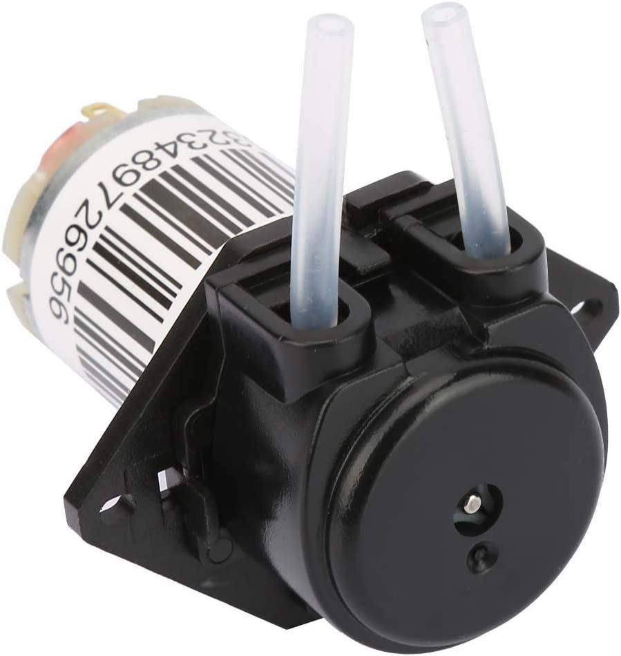Right Angle black 6V Miniature Silent Peristaltic Pump Titration DC Self-Priming Pump for Aquarium Experimental Analysis