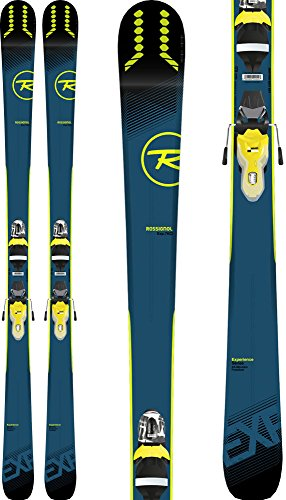 (Rossignol Experience 76 Ci Skis w/Xpress 11 Bindings Black/Yellow Mens Sz 170cm)