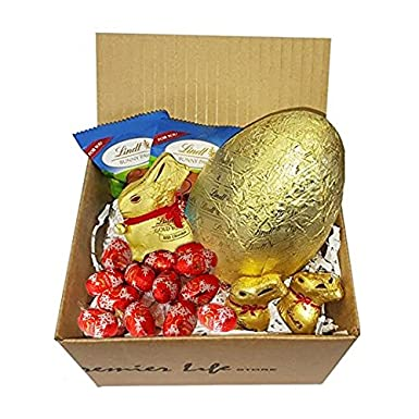 Lindt easter bunnies mini eggs and mini truffles gift set with lindt easter bunnies mini eggs and mini truffles gift set with paws perfect gift for easter negle Choice Image