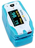 Acc U Rate® children digital finger pulse oximeter blood oxygen saturation monitor with adorable animal theme