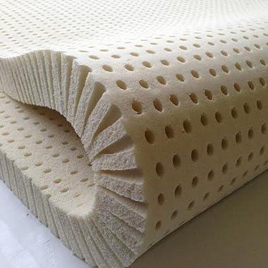 Pure Green 100% Natural Latex Mattress Topper - Firm - 1  Queen Size