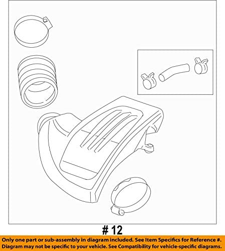 GM OEM Air Cleaner-to Intake Tube Duct Hose 25808955