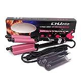 YUNAI Professional Hair Curler Triple Barrel Curlers Ceramic Curling Iron LCD Deep Wave Curl Hair Styling Tools 110v-240v