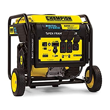Champion 100519 6250-Watt DH Series Open Frame Inverter Generator with Quiet Technology