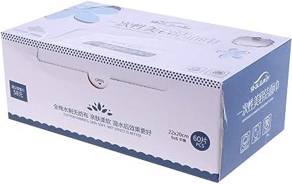 Tubayia 60 unidades desechables cara toalla algodón desmaquillante paño de limpieza: Amazon.es: Belleza