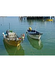 """Cedros Island Mexico Fishing Boats"" Canvas"