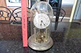 Vintage Kerr mantle clock Made in Germany gold tone w/ glass globe