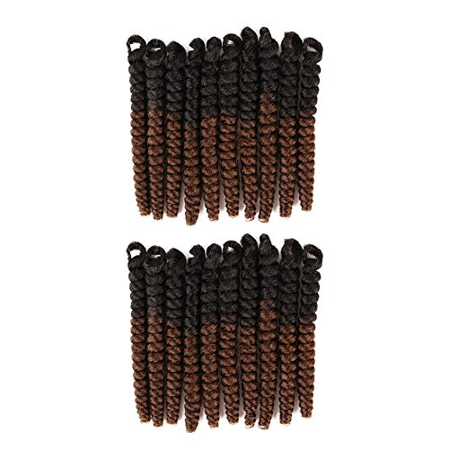 Creamily 3 Pack Synthetic Braiding Hair Braids 20 inch Toni Curls Crochet Braids Kanekalon Small Bouncy Curly 20Roots/Pack(6mm #1B/30 Black/ (Toni Twist)