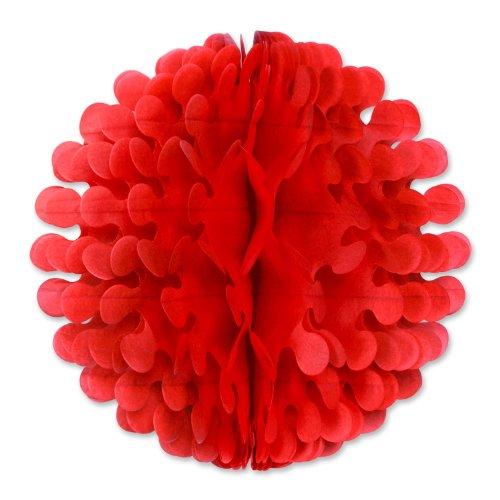 Beistle 1-Pack Tissue Flutter Ball, 19-Inch, Red