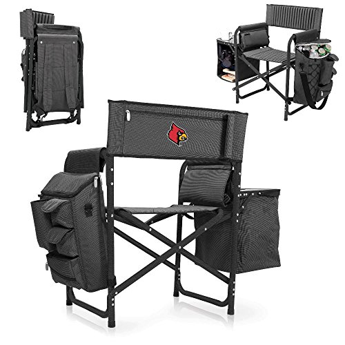 NCAA University of Louisville Digital Print Fusion Chair, Dark Grey/Black, One Size by PICNIC TIME