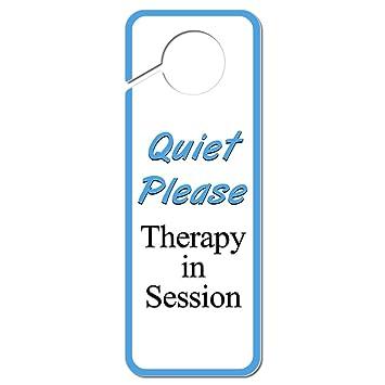 Amazon.com: Quiet Please Therapy in Session Plastic Door Knob Hanger ...
