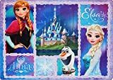 Big Area Rugs Disney Frozen Rug Anna, Olaf, Elsa Room Decor Girls Bedding Large Throw Area Rugs 5x7, X Large, Blue