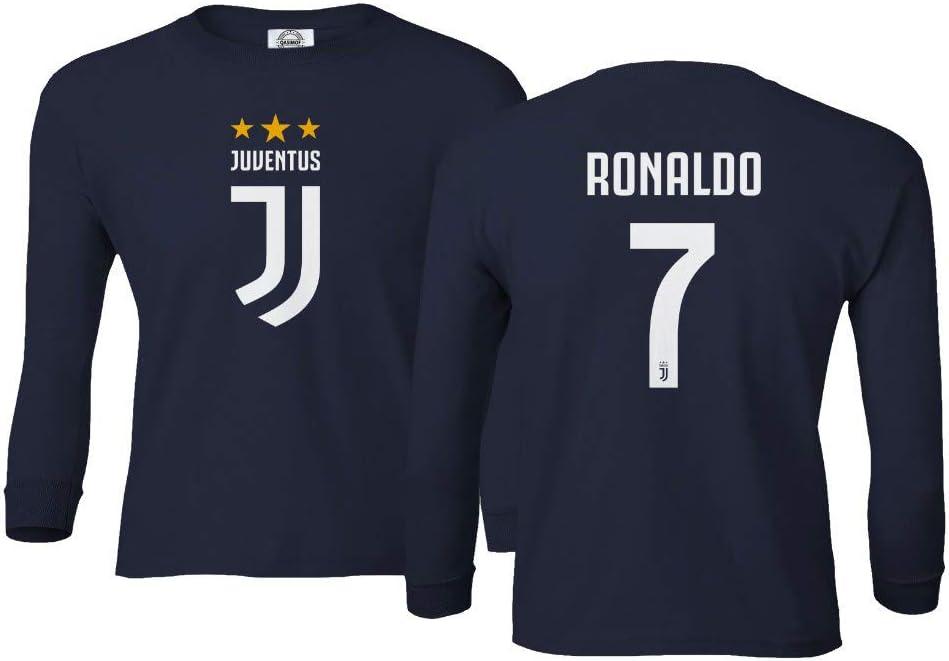 Camiseta de fútbol Spark Apparel #7 Cristiano Ronaldo CR7 para niños y niñas, manga larga, Juventud M, Marino: Amazon.es: Deportes y aire libre