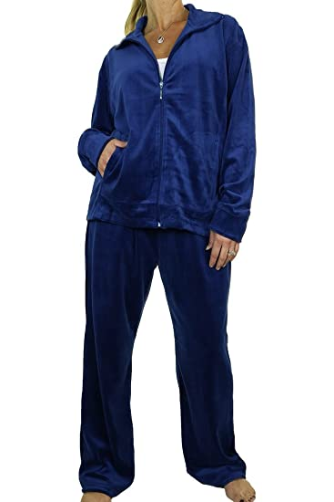 4d6ff5a8477 icecoolfashion ICE (6475) Plus Size Fuller Figure Curvy Womens Luxury  Velour Tracksuit  Amazon.co.uk  Clothing