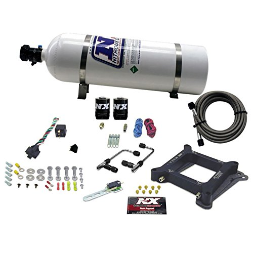 Nitrous Express 60045-15 4150 50-300 HP Gemini Twin Stage 6 Alcohol Plate System with 15 lbs. Bottle (Gemini Twin Stage)