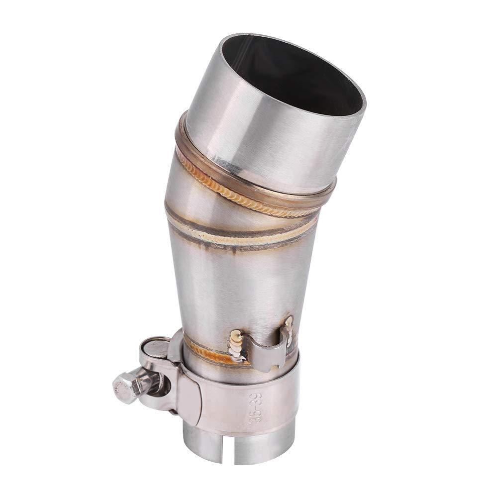 BiuZi Accesorios de Sistema de Escape de Conector de Adaptador de Tubo de Enlace de Silenciador de Escape de Motocicleta for Z250 250 13-16 Tubo de Enlace Intermedio de Escape