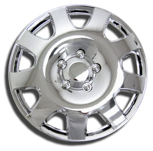 TuningPros WC-15-502-C 15-Inches-Chrome Improved Hubcaps Wheel Skin Cover Set of - 502 3 C