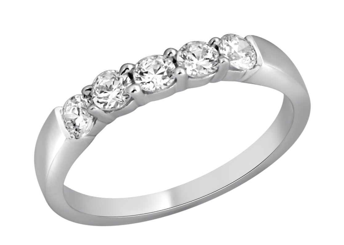 Jewel Ivy 14K White Gold Ring/Band with 0.50 Carat Diamond ( SI3-I1(GHI) ) Fine Jewelry, Best For Gifting Wife, Girlfriend, Friend