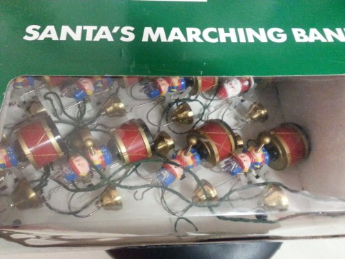 Vintage Mr. Christmas Santa's Marching Band in Green Box