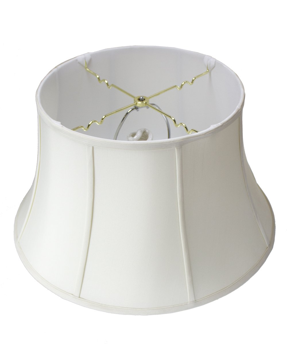 HomeConcept 131911FLES Egg Shell Floor Shantung Lampshade with Brass Spider Fitter by Home Concept, 13'' x 19'' x 11''