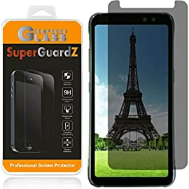 [2-PACK] Samsung Galaxy S8 Active [NOT For S8 / S8+] Privacy Anti-Spy Screen Protector Tempered Glass, SuperGuardZ [Lifetime Replacements] + LED Stylus Pen