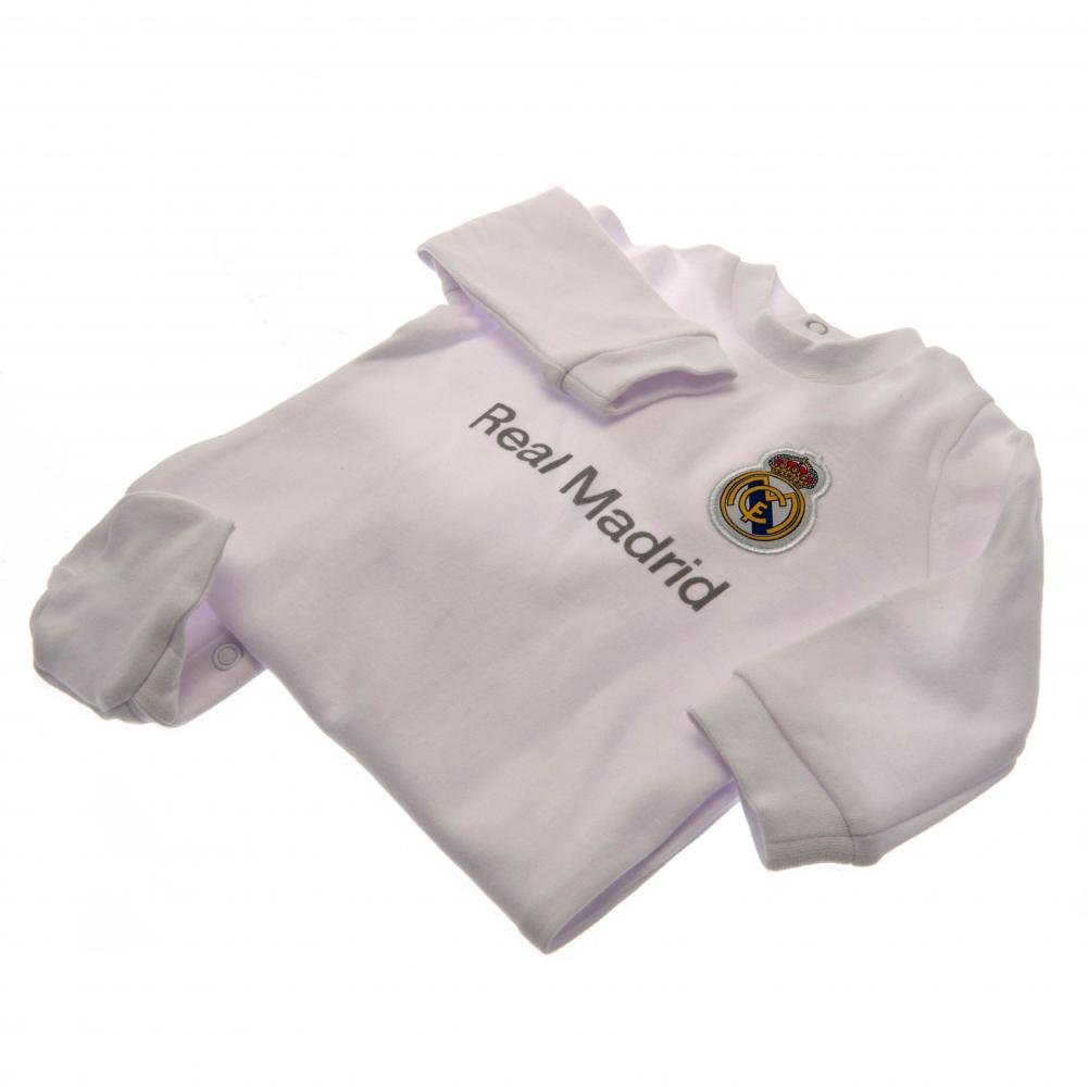Amazon.com: Real Madrid Authentic bebé Sleepsuit, Blanco ...