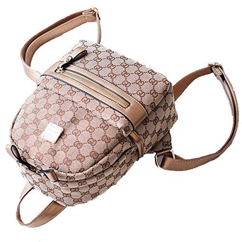 Small Bag Backpack Girl Printed Black Mini Backpack Fashion Bags Canvas Single P7wqY0