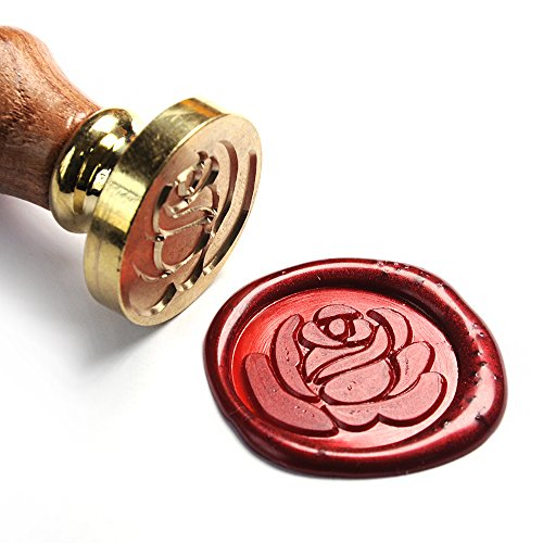 Pearl Swirl Wedding Invitations (UNIQOOO Art & Crafts Romance Love Rose Wax Seal Stamp, Great for Embellishment of Cards Envelopes, Wedding Invitations,Valentine's Day Engagement, Wine Packages, Gift Idea)