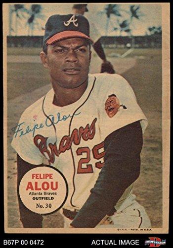 - 1967 Topps Pin-Ups # 30 Felipe Alou Atlanta Braves (Baseball Card) Dean's Cards 4 - VG/EX Braves