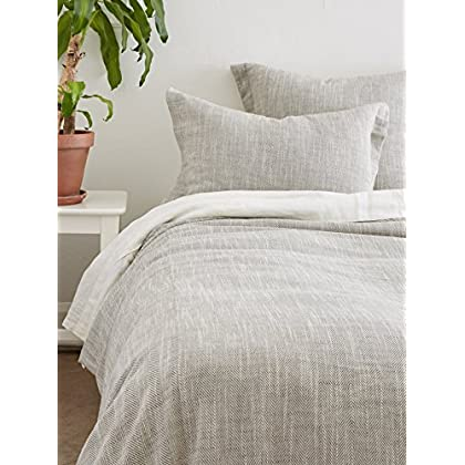 Image of Amity Home Celine Duvet Cover Set, Queen, Gray