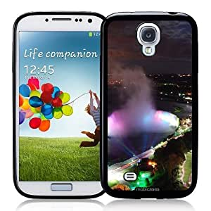 Cool Painting Niagara Falls By Night - Protective Designer BLACK Case - Fits Samsung Galaxy S4 i9500