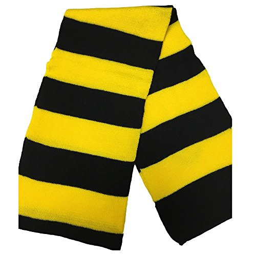 Father Christmas Costume Pattern (Winter Scarf Stripe Pattern Adult & Kids Halloween Costume Accessory USA (Yellow))