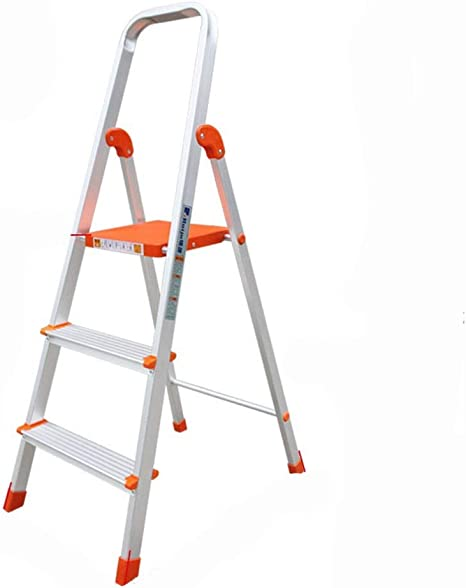 L&WB Escala De Tres Escaleras para El Hogar Escalera Plegable Grueso Aleación De Aluminio: Amazon.es: Deportes y aire libre