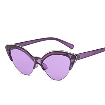 BUYAOAQ Gafas De Sol Mujer con Montura De Medio Color ...